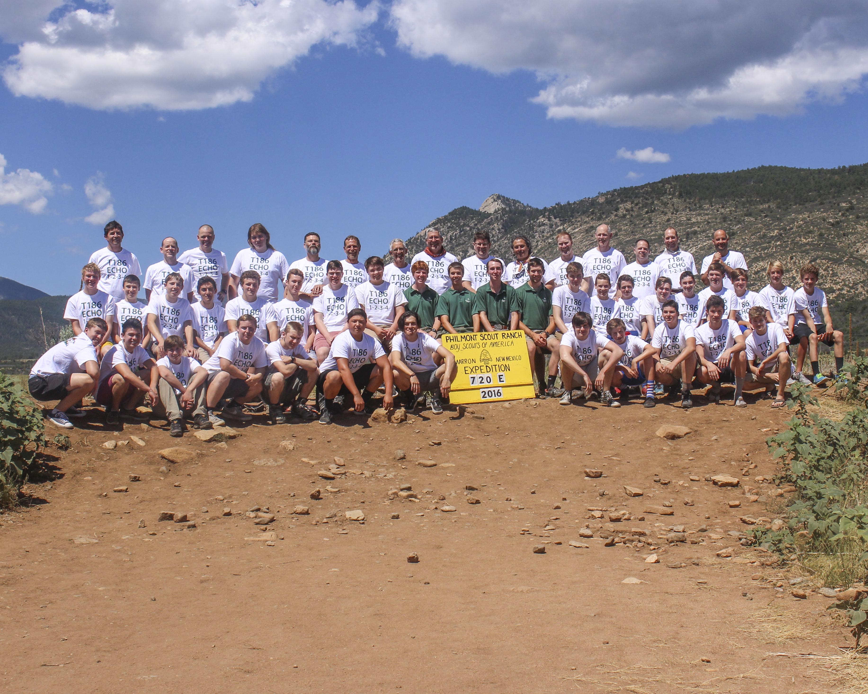 Troop 186 + Rangers at Philmont Ranch - 2016
